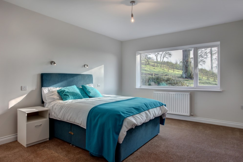 Renovated home, bedroom