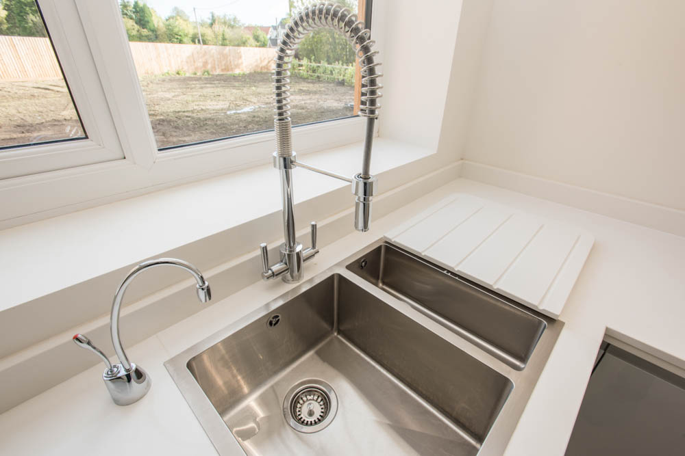 Modern sink and tap