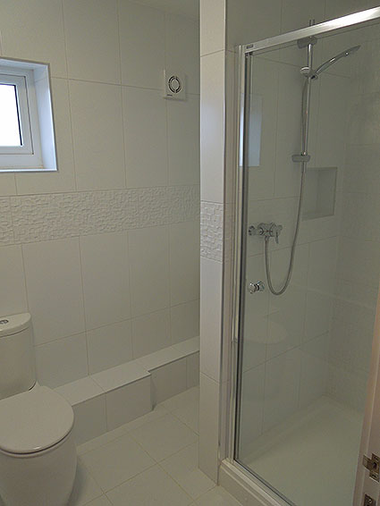 New home, shower